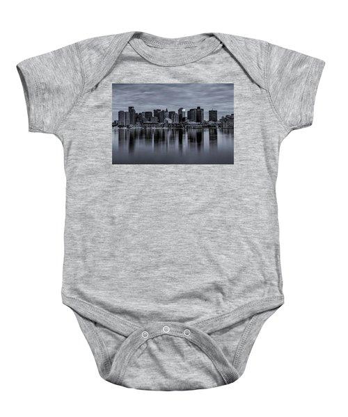 Boston In Monochrome Baby Onesie