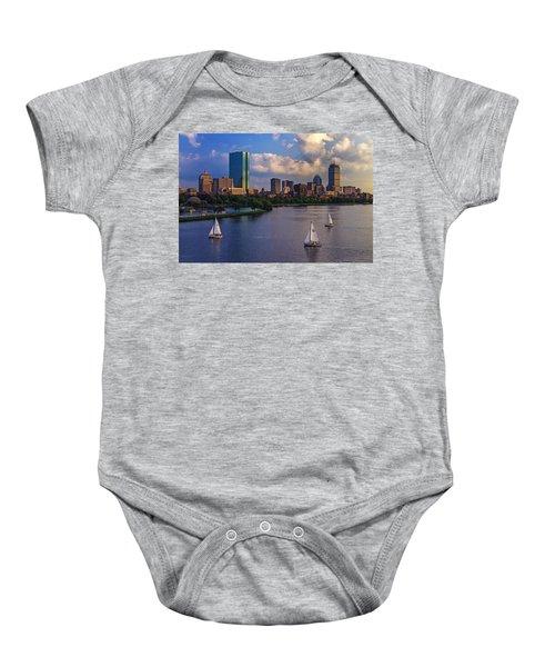 Boston Skyline Baby Onesie