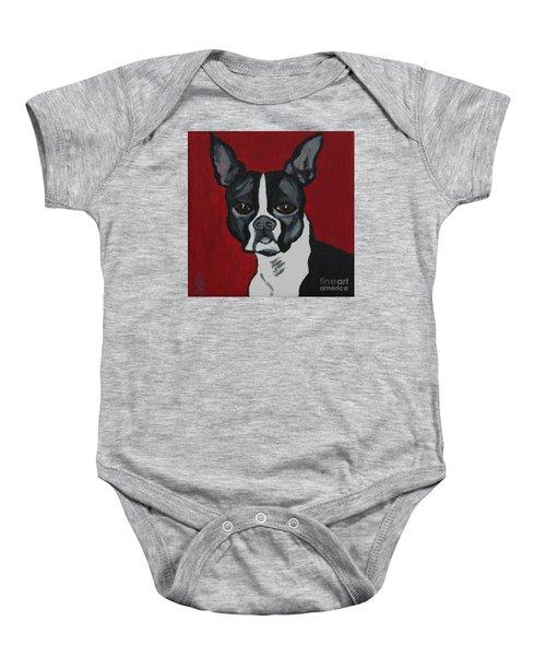 Boston Terrier Baby Onesie