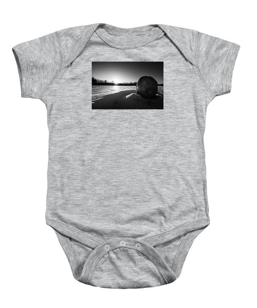 Boulder At Sunset Baby Onesie
