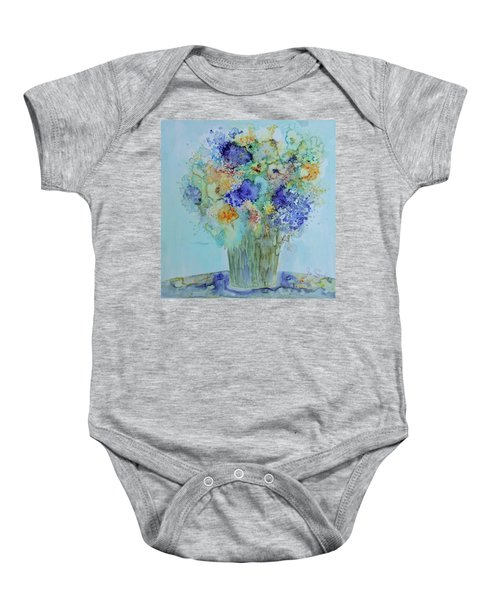 Bouquet Of Blue And Gold Baby Onesie
