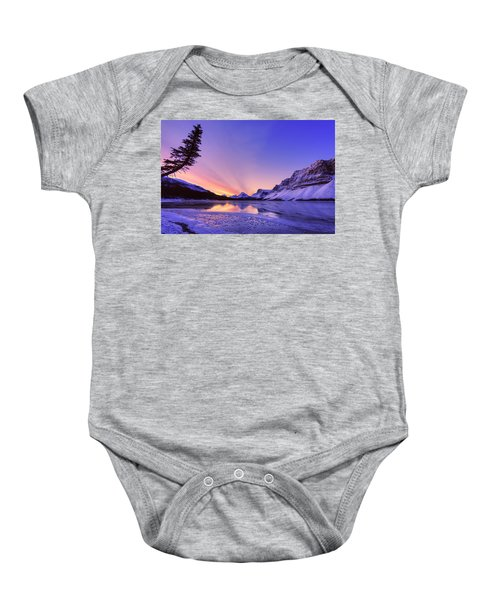 Bow Lake And Pine Baby Onesie