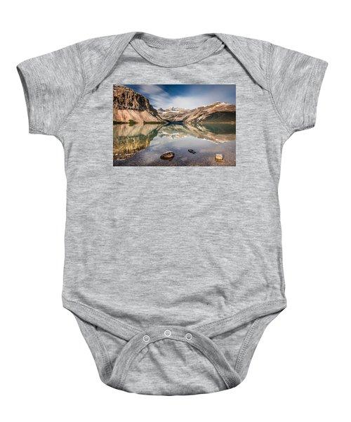 Bow Lake Glorious Reflection Baby Onesie