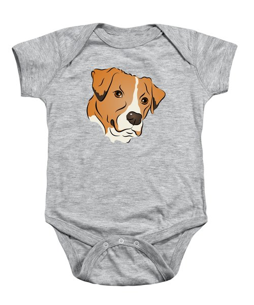 Boxer Mix Dog Graphic Portrait Baby Onesie