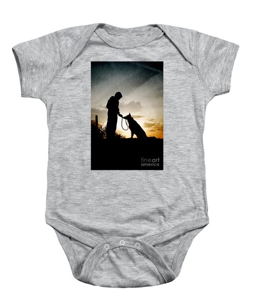 Boy And His Dog Baby Onesie