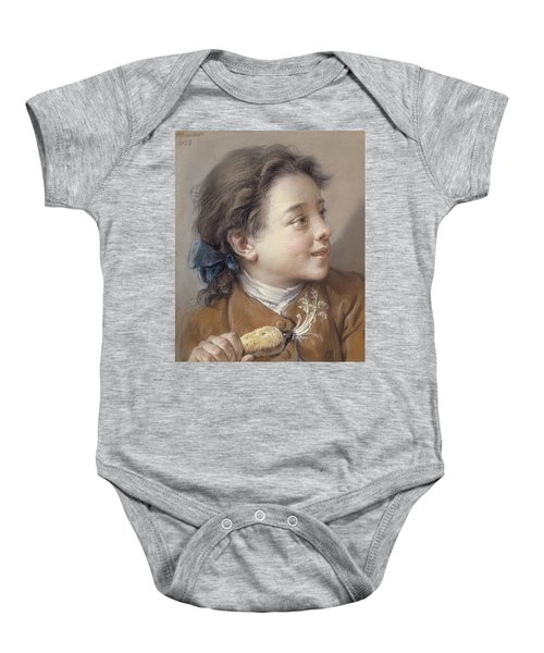 Boy With A Carrot, 1738 Baby Onesie by Francois Boucher