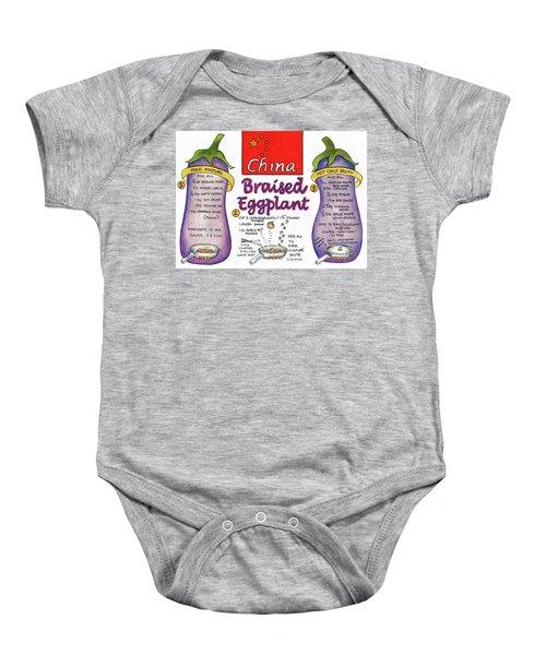 Braised Eggplant Baby Onesie