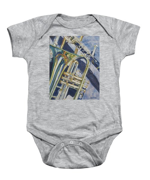 Brass Winds And Shadow Baby Onesie