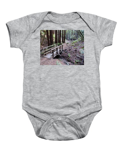 Bridge In The Redwoods Baby Onesie