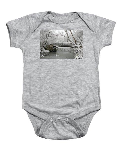 Bridge In Winter Baby Onesie
