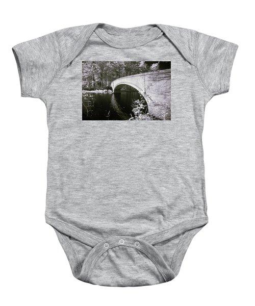 Bridge Over Infrared Waters Baby Onesie