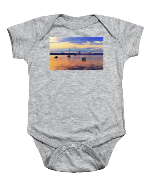 Bridge Sunset Baby Onesie