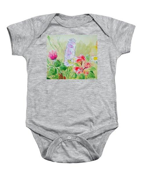 British Wild Flowers Baby Onesie