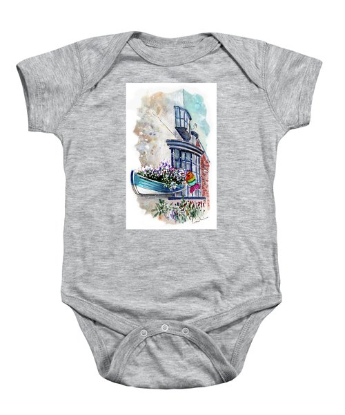 Broadies By The Sea In Staithes Baby Onesie