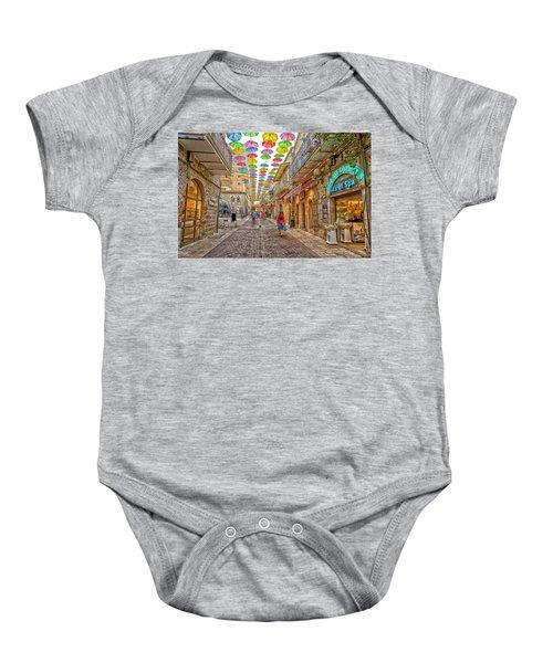 Brollies Over Jerusalem Baby Onesie