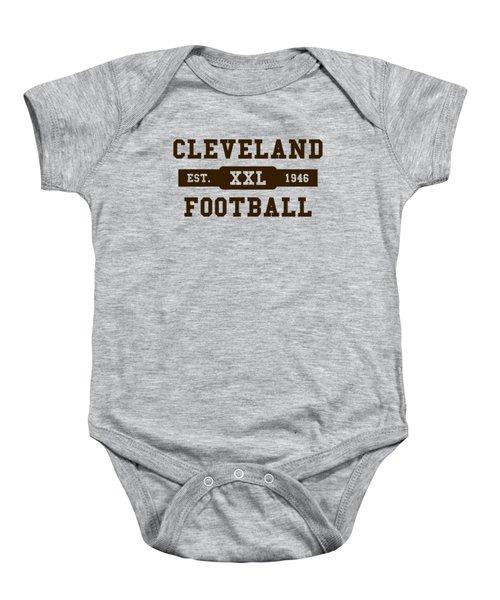 Browns Retro Shirt Baby Onesie by Joe Hamilton