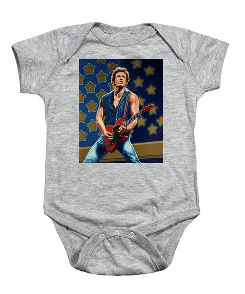 Bruce Springsteen The Boss Painting Baby Onesie by Paul Meijering