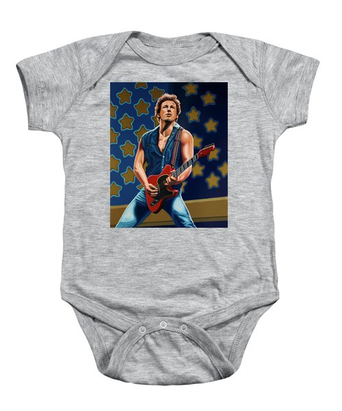 Bruce Springsteen The Boss Painting Baby Onesie