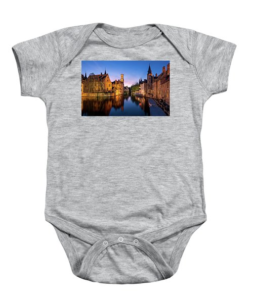 Bruges Canals At Blue Hour Baby Onesie