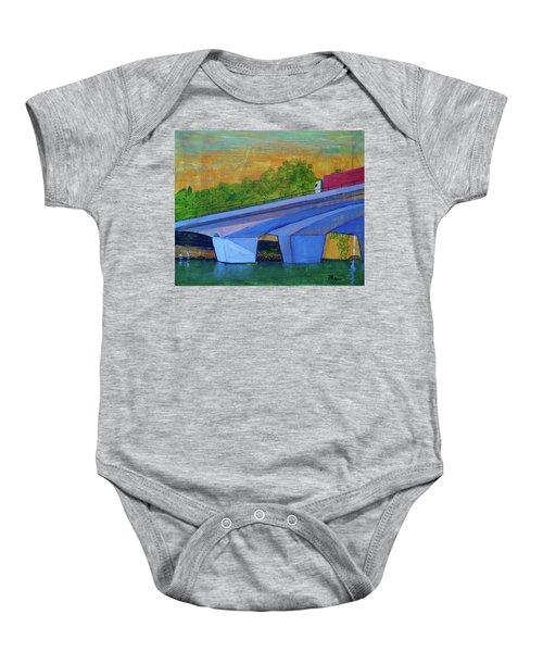 Brunswick River Bridge Baby Onesie