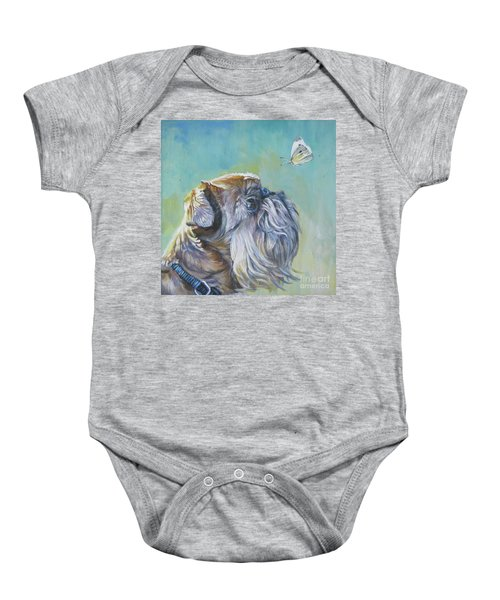 Brussels Griffon With Butterfly Baby Onesie