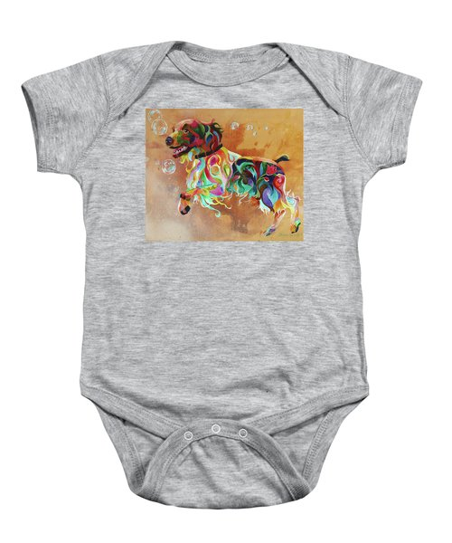 Bubbles  English Springer Baby Onesie