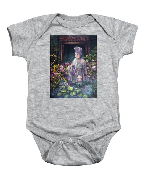 Budda Statue And Pond Baby Onesie