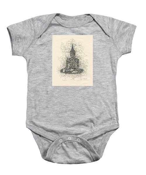 Buddha Pen And Ink Drawing Baby Onesie