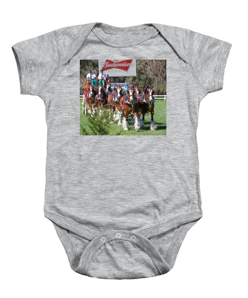 Budweiser Clydesdales Perfection Baby Onesie