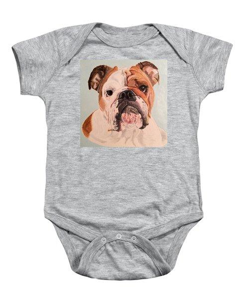 Bulldog Beauty Baby Onesie