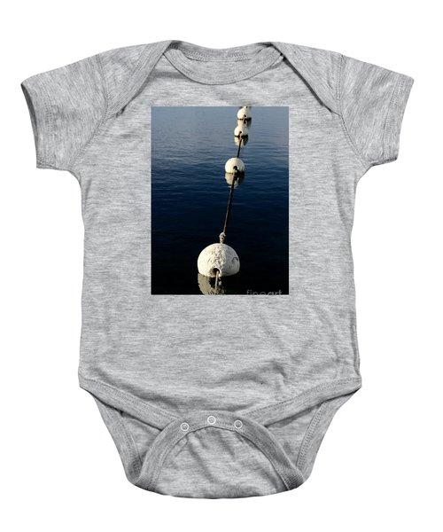 Baby Onesie featuring the photograph Buoy Descending by Stephen Mitchell