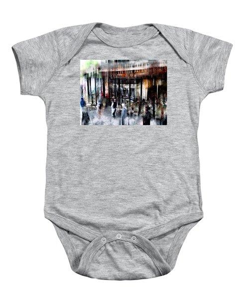 Busy Sidewalk Baby Onesie