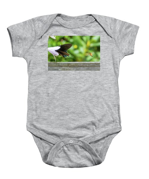 Butterfly And Bee Baby Onesie