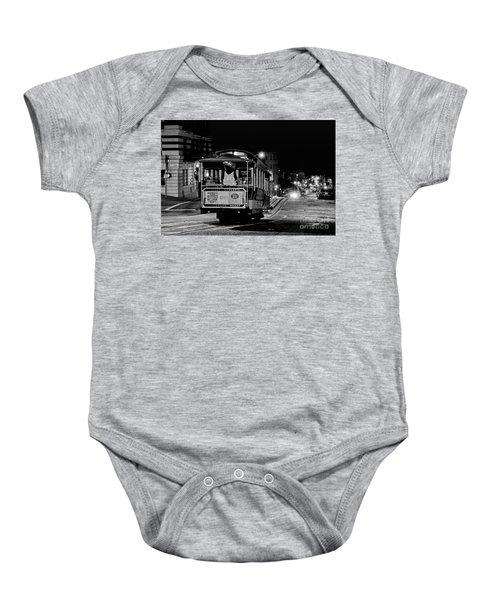 Cable Car At Night - San Francisco Baby Onesie