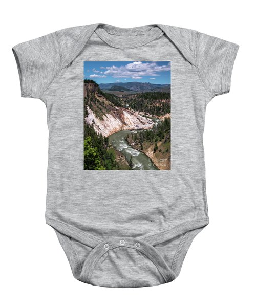 Baby Onesie featuring the photograph Calcite Springs Overlook  by Vincent Bonafede