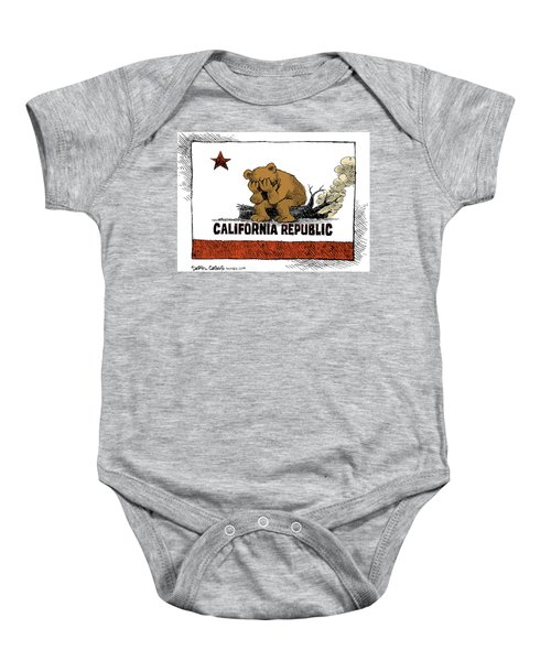 California Fire Bear Grieves Baby Onesie