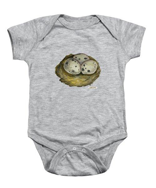 California Quail Eggs In Nest Baby Onesie