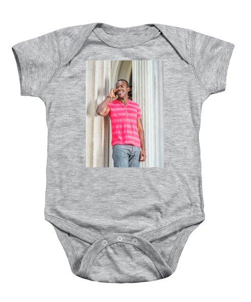 Man Calling Outside Baby Onesie