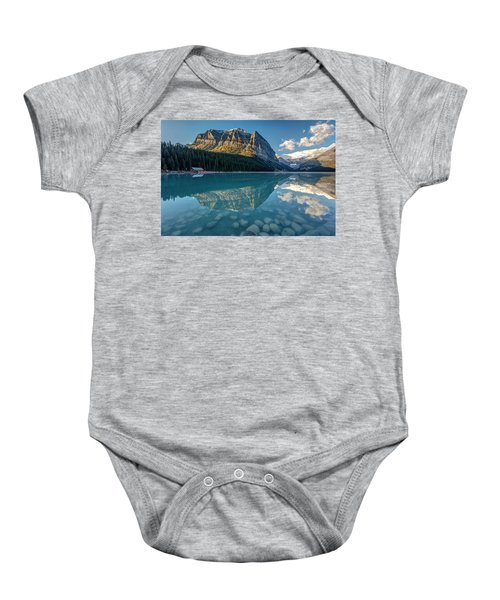 Calm Lake Louise Reflection Baby Onesie