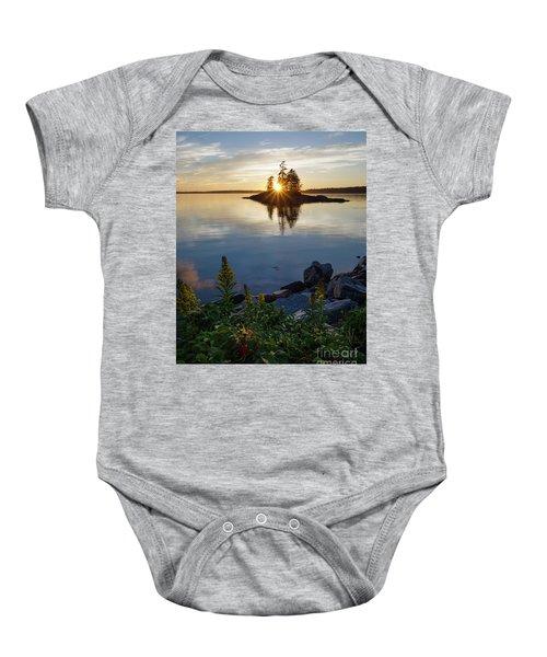 Calm Water At Sunset, Harpswell, Maine -99056-99058 Baby Onesie