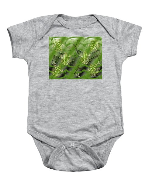 Camo Frog Dragonfly Baby Onesie