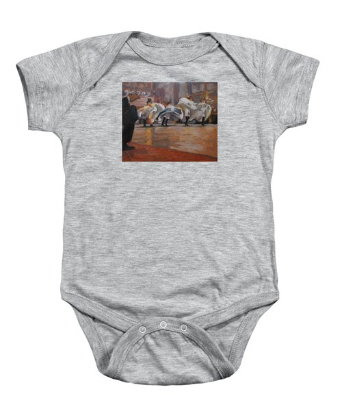 Can Can In The Moulin Rouge Paris Baby Onesie by Nop Briex