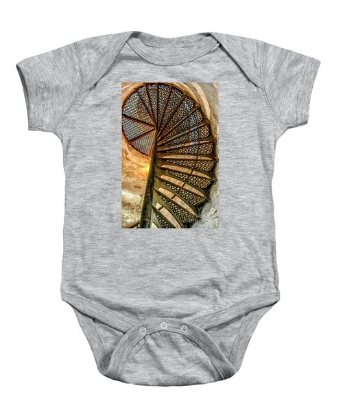Cana Island Lighthouse Staircase Baby Onesie