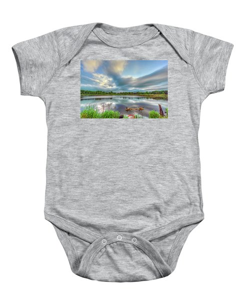 Canadian Geese On A Marylamd Pond Baby Onesie