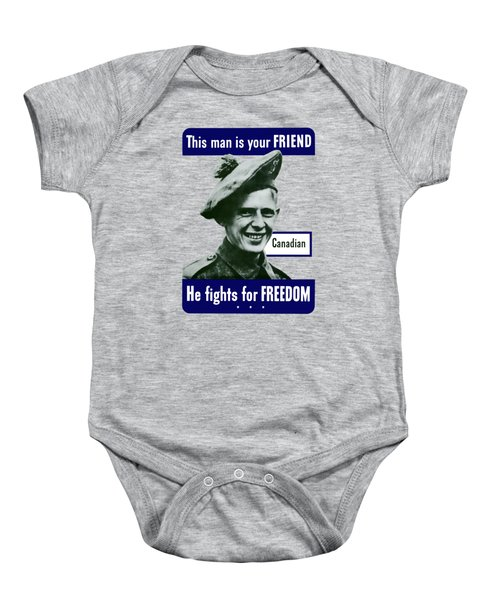 Canadian This Man Is Your Friend Baby Onesie