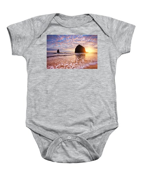 Cannon Beach Sunset Classic Baby Onesie