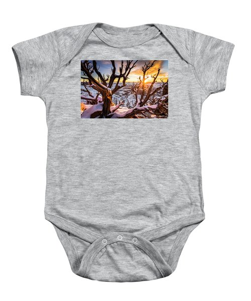 Canyonlands Winter Sunset Baby Onesie