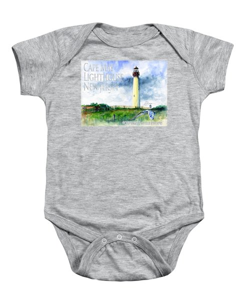 Cape May Lighthouse Shirt Baby Onesie