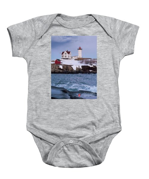 Cape Neddick Light At Dusk, York, Maine 21073 Baby Onesie