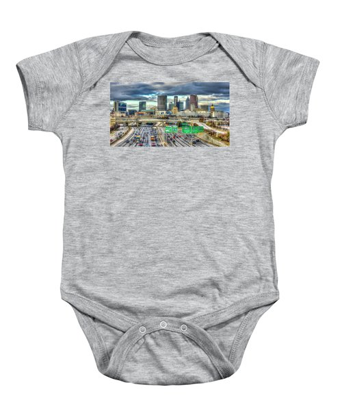 Capital Of The South Atlanta Skyline Cityscape Art Baby Onesie